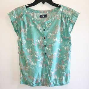 "The North Face ""watercolor"" blouse. Size Small"